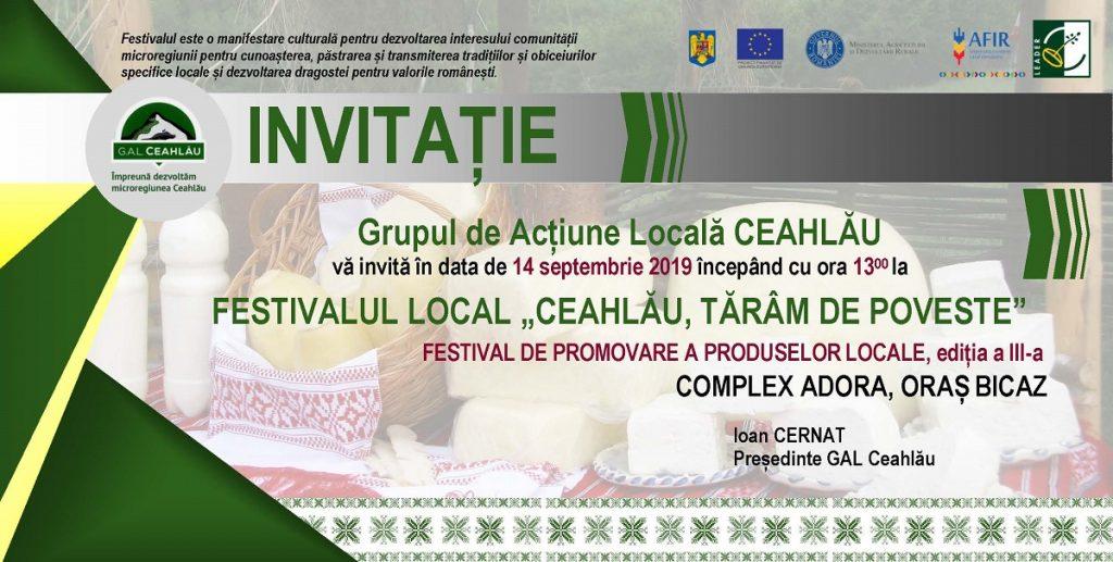 """FESTIVALUL LOCAL """"CEAHLĂU, TĂRÂM DE POVESTE"""""""