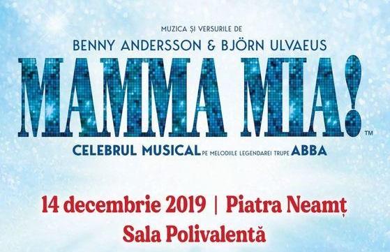 """Musicalul """"MAMMA MIA!"""" în premieră pe scena Sălii Polivalente din Piatra Neamț"""