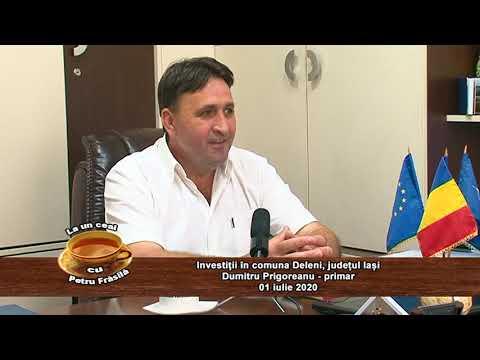 La un ceai cu Petru Frăsilă – INVESTIȚII ÎN COMUNA DELENI Jud. IAȘI, invitat primar DUMITRU PRIGOREANU