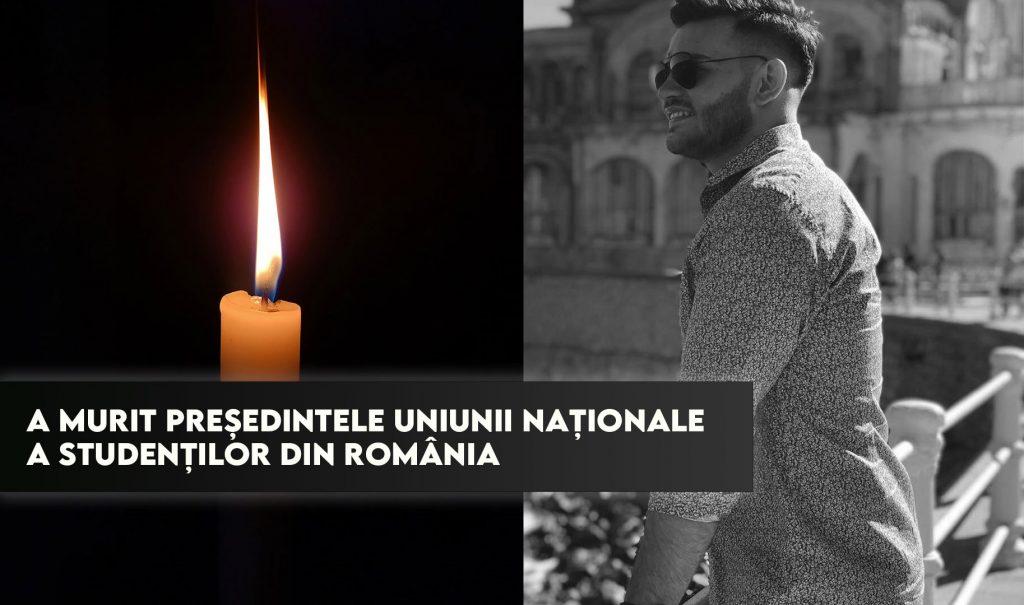 A murit președintele Uniunii Naționale a Studenților din România